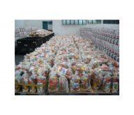 Armado de despensas y paquetes de alimentos con distribución  atomizada