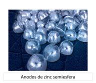Ánodos de zinc semiesfera