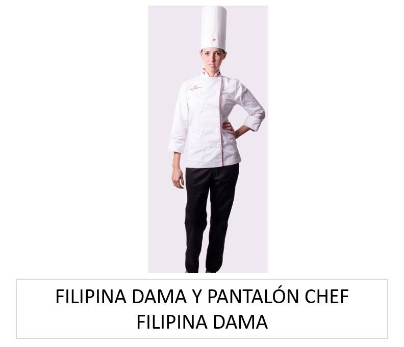 FILIPINA DAMA Y PANTALÓN CHEF FILIPINA DAMA