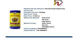 IMPERIAL-POLVO PARA HORNEAR 100 GR