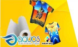Papel para sublimación AQUOS WT 100 Sublim Arts® con adhesivo