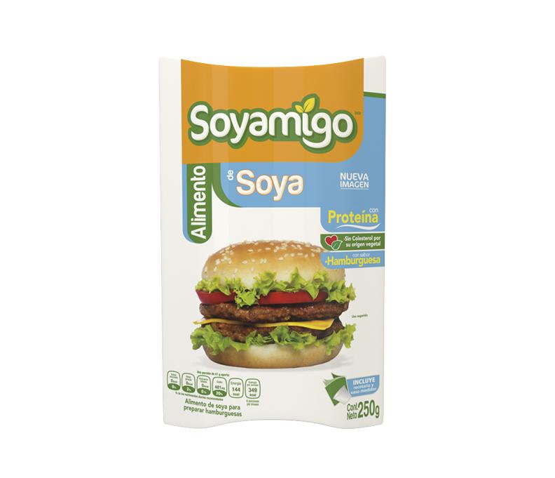 Soyamigo BERESHITA soya con sabor hamburguesa  250 g.