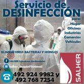 Servicio de desinfección