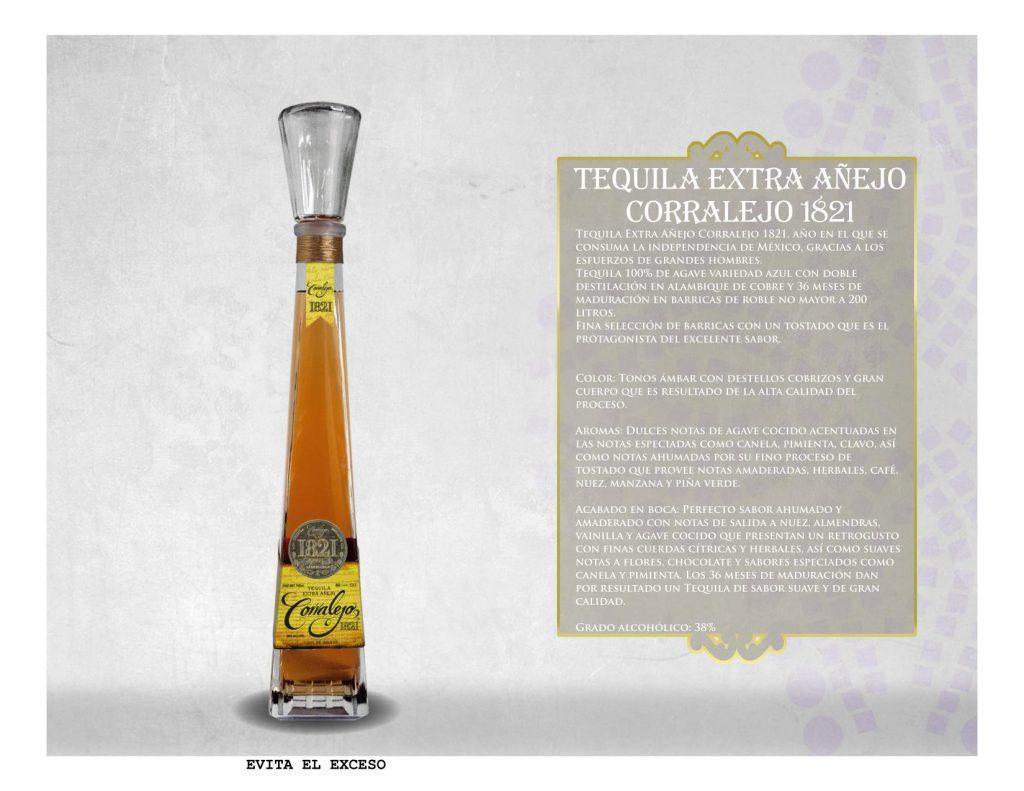 Tequila Corralejo 1821 Extra Añejo