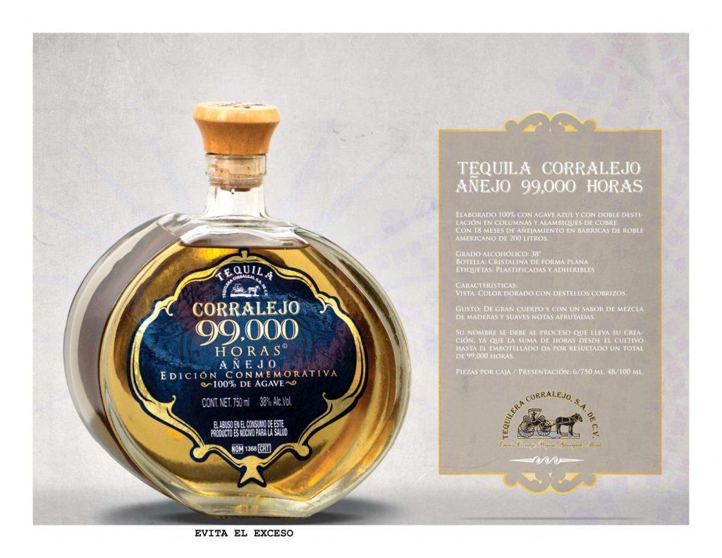 Tequila Corralejo 99000 horas