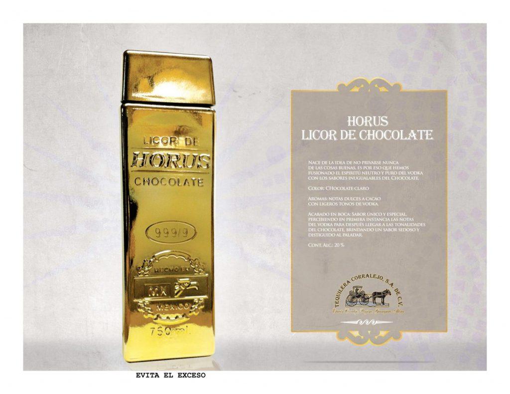 Licor de Chocolate Horus 750 ml
