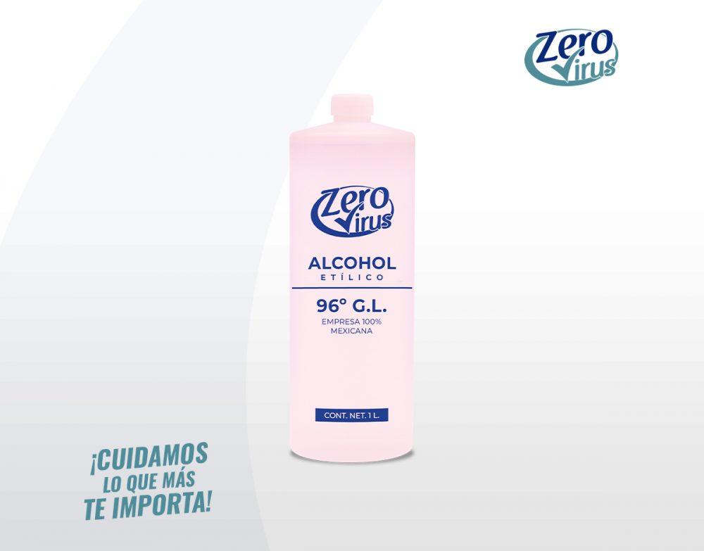 Alcohol Etílico 1 Litro Zero Virus