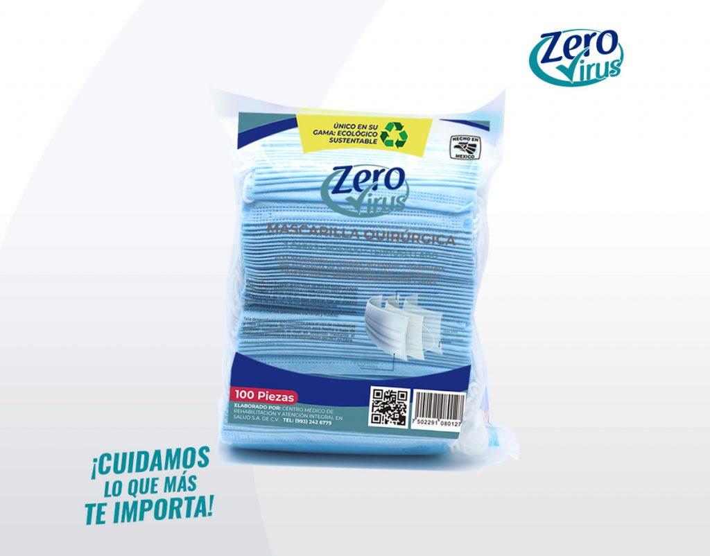 Paquete Mascarilla desechable tres capas plisado termosellado 100 piezas