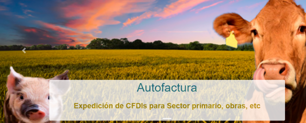 AutoFactura de sector primario a traves del adquiriente de servicios